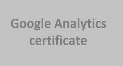Olesya Zaytseva: Google Analytics certificate