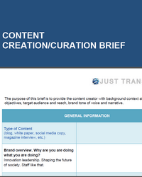 Content Creation Brief
